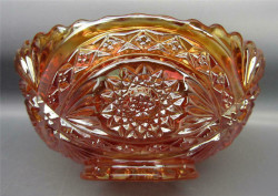 Carnival Glass Imperial Hobstar Marigold Berry Bowl
