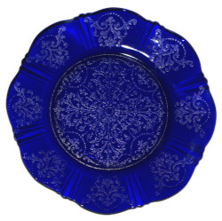 Depression Glass MacBeth Evans American Sweetheart Ritz Blue Salad Plate