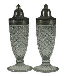 Depression Glass Westmoreland English Hobnail Crystal Salt and Pepper Shakers