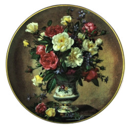 Franklin Mint Albert Williams Rose Bouquet Collector Plate