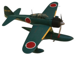 Franklin Mint Armour Collection Japanese Zero-Nakajima A6M2 Die Cast Airplane