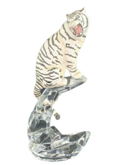 Franklin Mint Cats of The World White Siberian Tiger Figurine