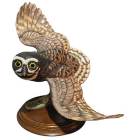 Franklin Mint George McMonigle The Spectacled Owl Figurine