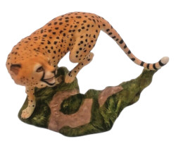 Franklin Mint Great Cats of the World Cheeta Figurine