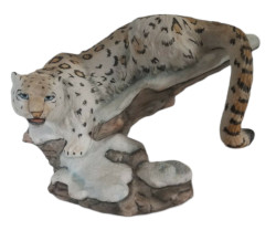 Franklin Mint Great Cats of the World Snow Leopard Figurine