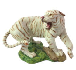 Franklin Mint Great Cats of the World White Bengal Tiger Figurine