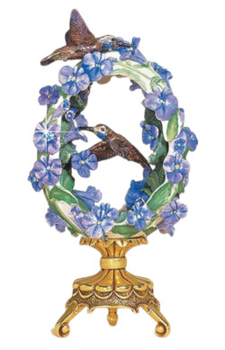 Franklin Mint House of Faberge Friends in the Garden Hummingbird Egg