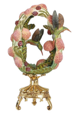 Franklin Mint House of Faberge Star of the Garden Hummingbird Egg