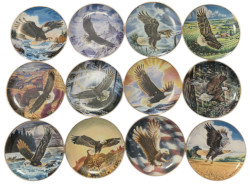 Franklin Mint Eagles by  Ronald Van Ruyckevelt Full Set Collector Plate