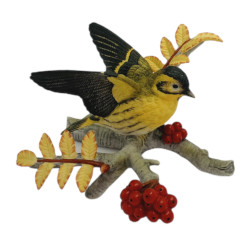 Franklin Mint Royal Society for the Protection of Birds (RSPB) Siskin Figurine
