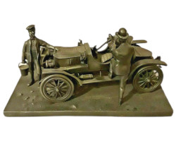 Franklin Mint The Stanley Steamer Pewter Replica