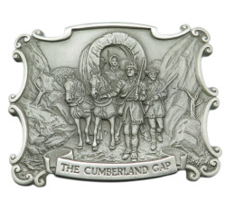 Franklin Mint West Heritage Museum Belt Buckle Collection The Cumberland Gap Pewter