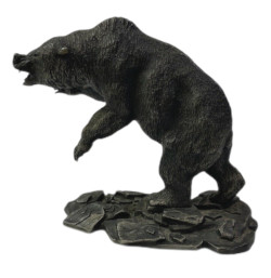Franklin Mint Wildlife of North America Grizzly Bear Pewter