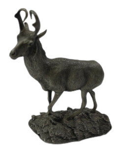 Franklin Mint Wildlife of North America Pronghorn Antelope Pewter