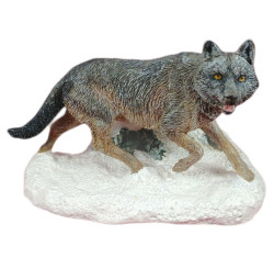 Franklin Mint Wildlife Preservation Trust International Sculpture Collection Canis lupus (Wolf) Figurine