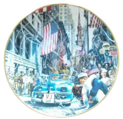 Franklin Mint World War II by William Teodecki VJ Day Collector Plate